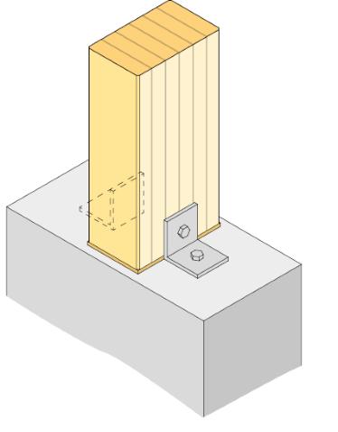 fästa trä mot betong